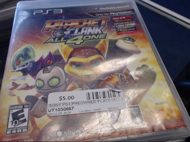 SONY PS3 RATCHET & CLANK ALL 4 1
