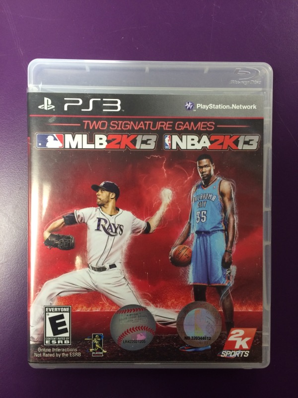 Two Signature Games: MLB 2K13 & NBA 2K13 - (Sony Playstation 3, 2013)