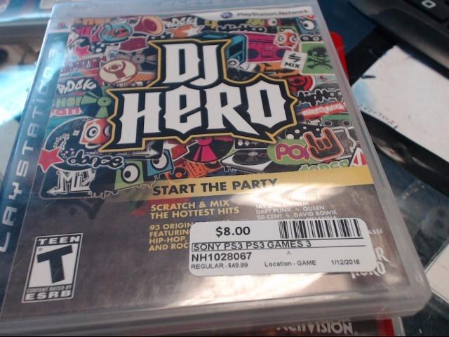 SONY PS3 DJ HERO