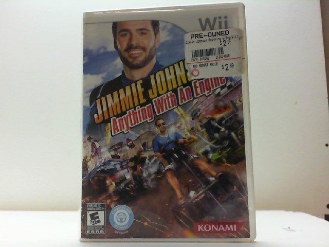 NINTENDO Nintendo Wii Game JIMMIE JOHNSONS ANYTHING WITH AN ENGINE