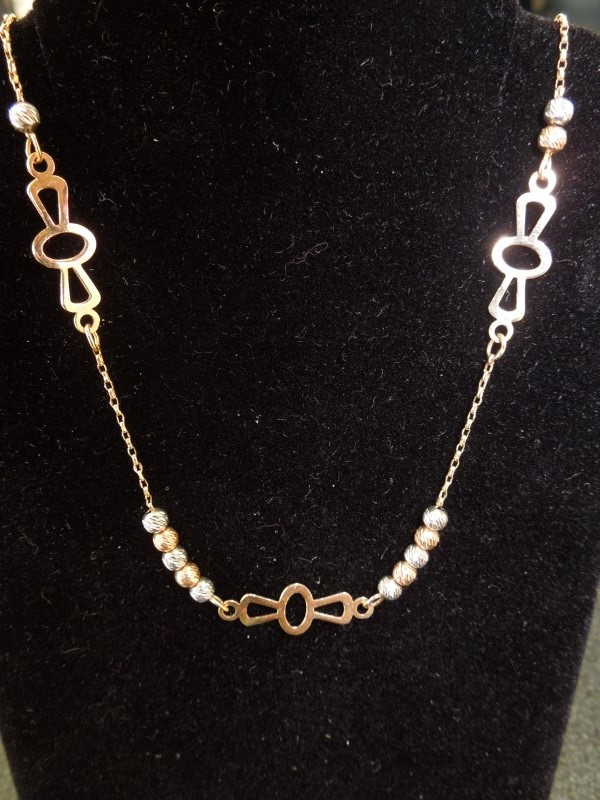 "18"" Gold Fashion Chain 14K Tri-color Gold 2.9g"