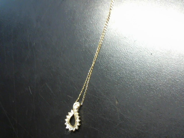 Diamond Necklace 16 Diamonds .16 Carat T.W. 14K Yellow Gold 2.01g