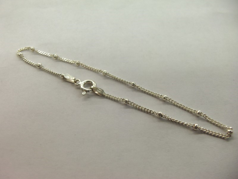 STERLING BALL LINK BRACELET WITH SPRING CLASP NEW