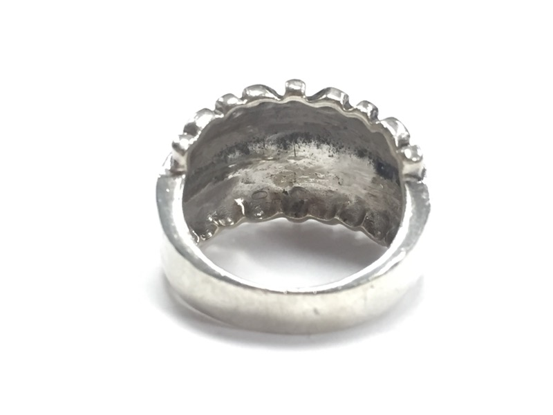 CUSTOM WIDEBAND STERLING SILVER RING Size:5.5