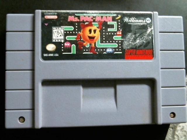 NINTENDO Nintendo SNES Game MS PAC MAN SNES