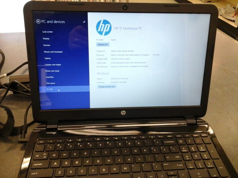 HEWLETT PACKARD Laptop/Netbook HP 15 NOTEBOOK PC