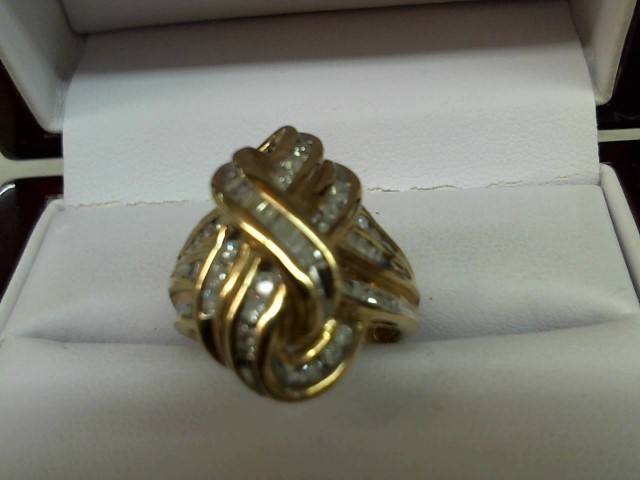 Lady's Diamond Fashion Ring 39 Diamonds .78 Carat T.W. 14K Yellow Gold 7.3g