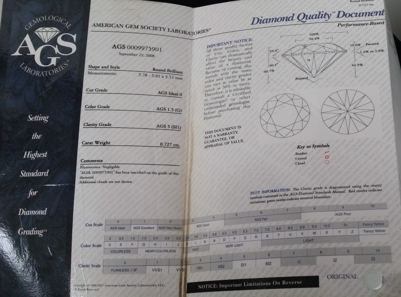 1.22 CARAT DIAMOND 14K YELLOW GOLD ENGAGEMENT RING PEERLESS DIAMOND