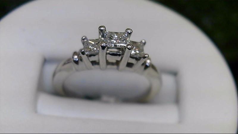 Lady's Platinum-Diamond Anniversary Ring 3 Diamonds .55 Carat T.W. 950 Platinum
