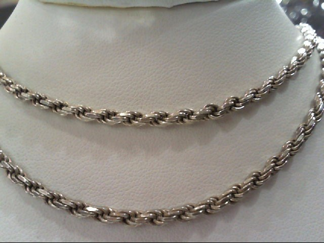 """20"""" Silver Rope Chain 925 Silver 13.9g"""