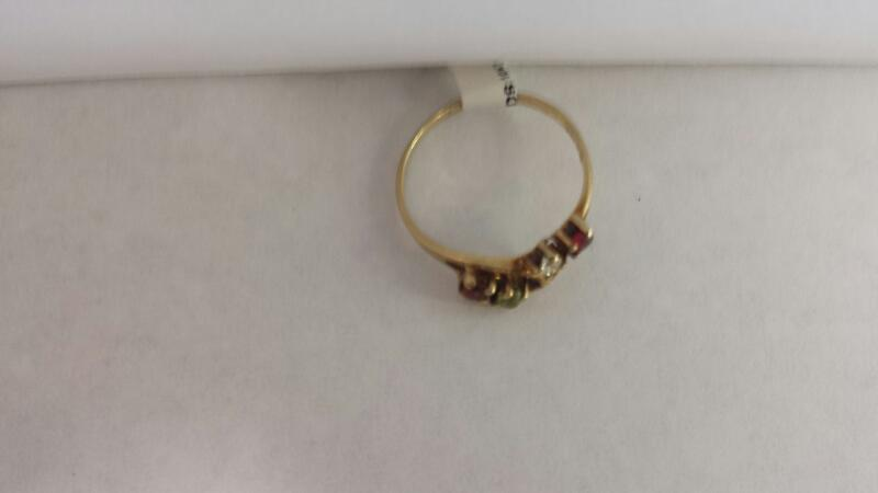 """10k Yellow Gold Ring """"Mother's Ring"""""""