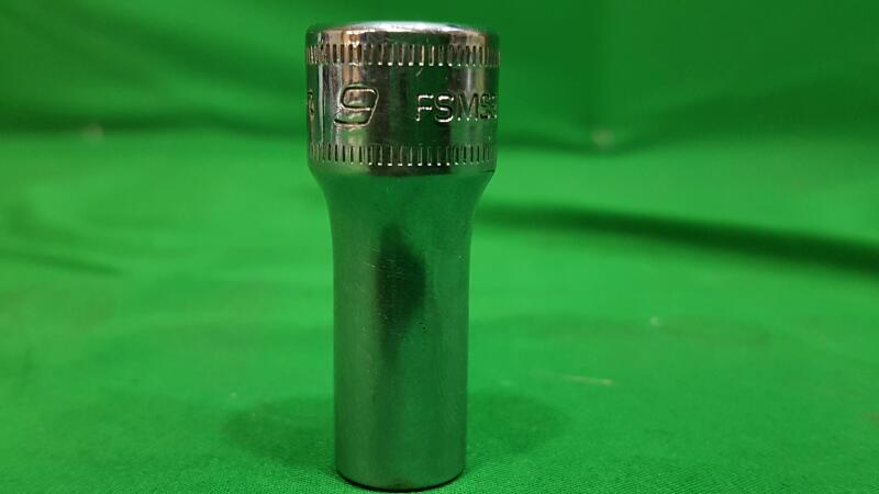 "SNAP ON FSMS9 SEMI DEEP 9 mm Socket 3/8"" Drive 6 Point Tool"