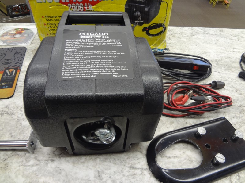 CHICAGO ELECTRIC WINCH 2000 LBS. #39997