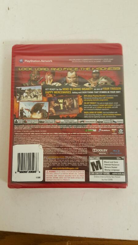 NEW Borderlands (Sony PlayStation 3, 2009) PS3 Factory Sealed Free Shipping
