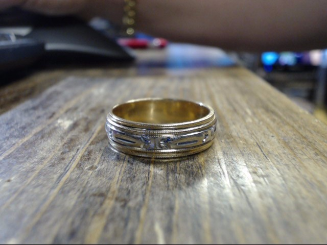 Gent's Gold Ring 14K 2 Tone Gold 8.9g Size:12.5