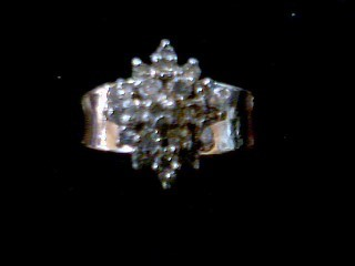 Lady's Diamond Cluster Ring 20 Diamonds .20 Carat T.W. 10K Yellow Gold 4g