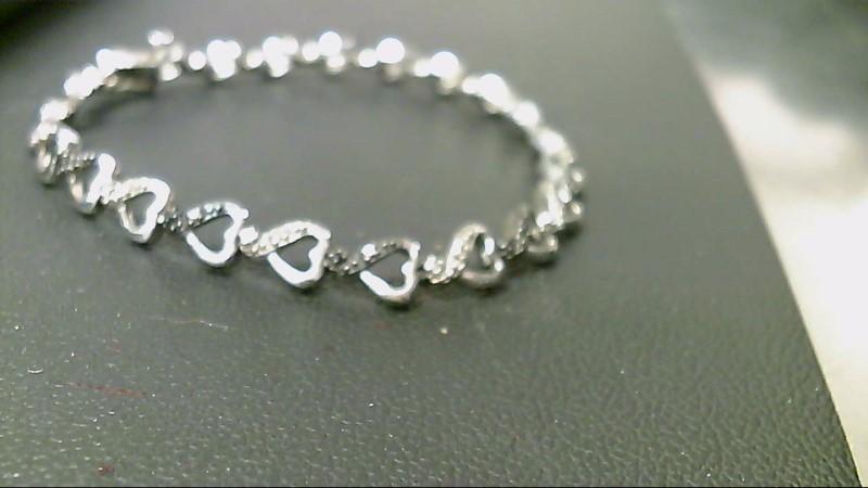 Black Stone Silver-Diamond & Stone Bracelet 22 Diamonds .22 Carat T.W.