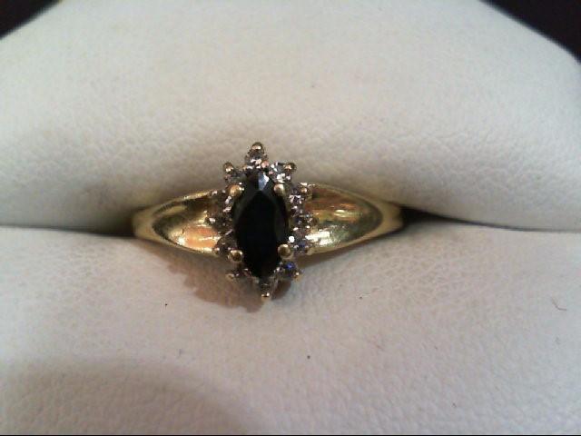 Sapphire Lady's Stone & Diamond Ring 12 Diamonds .060 Carat T.W.