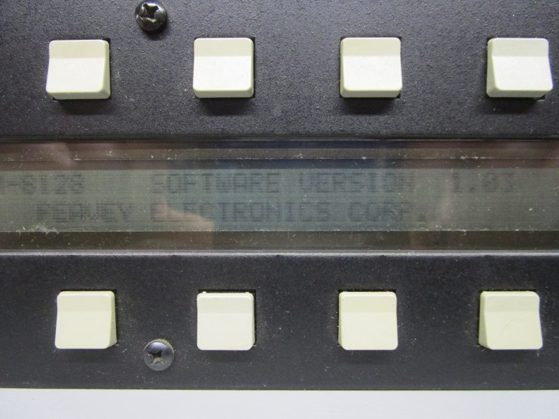 PEAVEY PLM 8128 PROGRAMMABLE LINE MIXER, FOR PARTS OR REPAIR