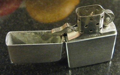 1969 Brushed Chrome Zippo Lighter, Marked III II  Bradford, PA