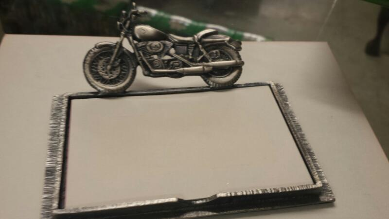 MISC COLLECTIBLES NEW MISC NEW MISC WELFORTH H017; H017 PEWTER MOTORCYLE NOTEPAD