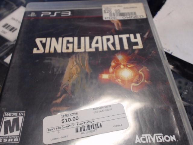 SONY PS3 SINGULARITY