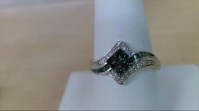 Lady's Diamond Fashion Ring 41 Diamonds .50 Carat T.W. 10K White Gold 2.4g