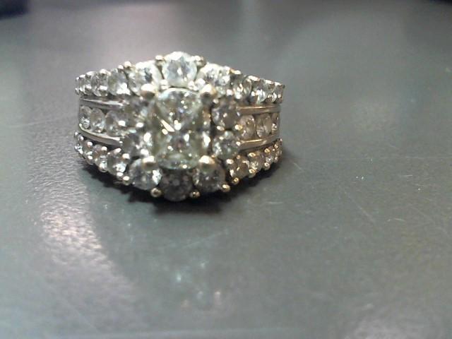 Lady's Diamond Engagement Ring 36 Diamonds 2.52 Carat T.W. 14K White Gold 6.9g