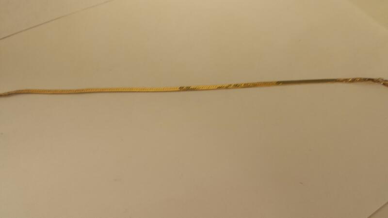 Gold Herringbone Bracelet 14K Yellow Gold 2.3dwt