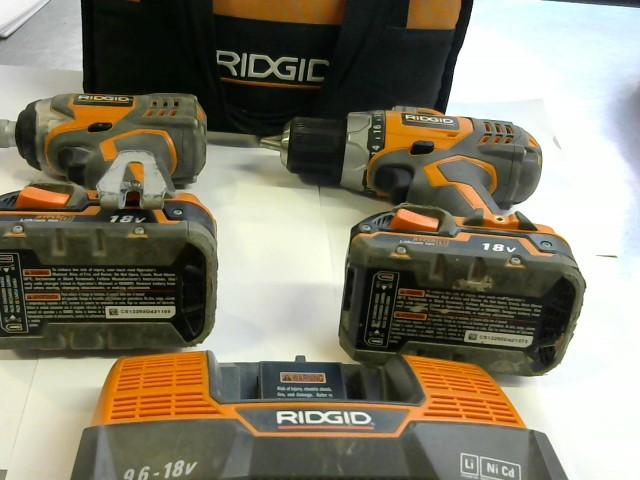 RIDGID Cordless Drill R9602 DRILL & IMPACT IN CASE