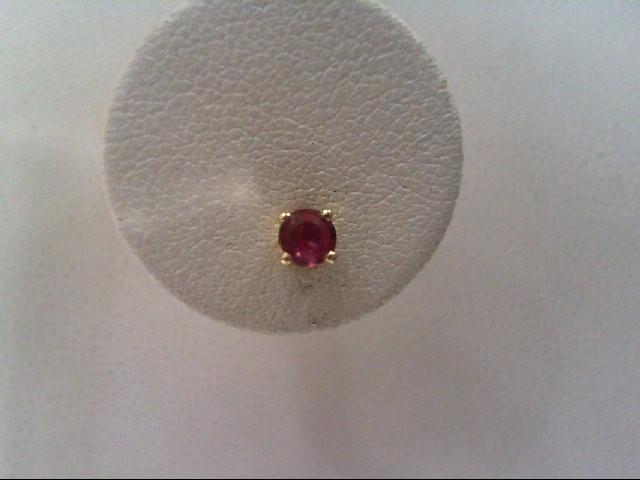 Ruby Silver-Stone Earrings 925 Silver 16.2g