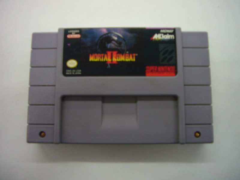 "SNES MORTAL KOMBAT II SNES ""GAME ONLY"""