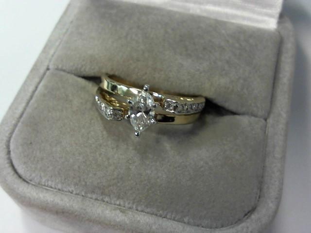 Lady's Diamond Engagement Ring 13 Diamonds .53 Carat T.W. 14K Yellow Gold 4.3g