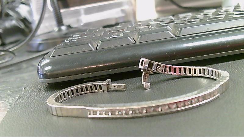 Gold-Diamond Bracelet 20 Diamonds 3.00 Carat T.W. 14K White Gold 26.9g