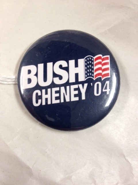 2004 BUSH CHENEY POLITICAL BUTTON