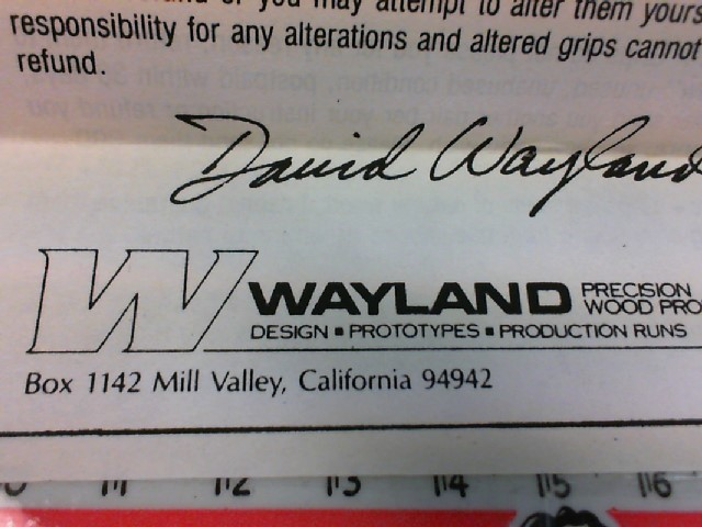WAYLAND PRECISION WOOD PRODUCTS