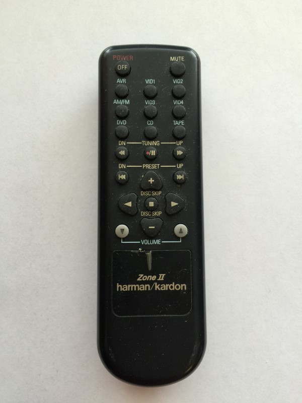 HARMAN KARDON ZONE II REMOTE CONTROLL FOR HOME THEATER RECEIVER