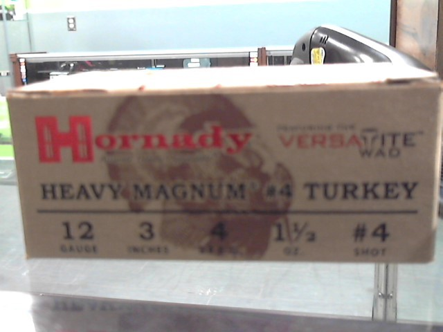 "HORNADY Ammunition 12 GA 3"" TURKEY 4 SHOT"
