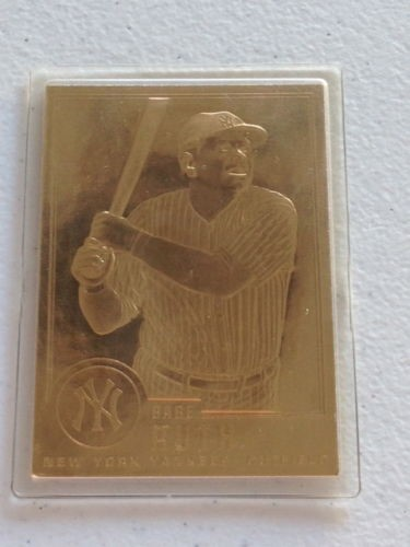 BABE RUTH Sports Memorabilia GOLD CARD