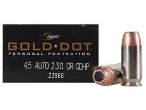 SPEER AMMUNITION Ammunition GOLD DOT .45ACP