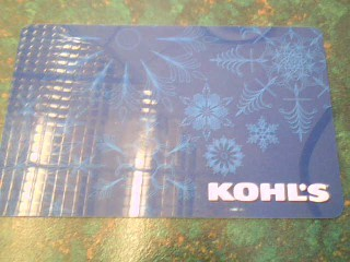 KOHL'S Gift Cards GIFTCARD
