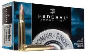 FEDERAL AMMUNITION Ammunition 20 CENTERFIRE POWER SHOK