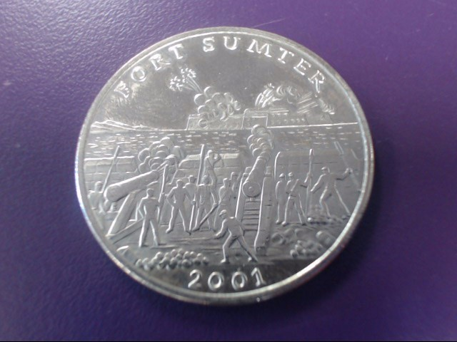 2001 Republic of Liberia Commemorative $5 Five Dollar Fort Sumter Coin