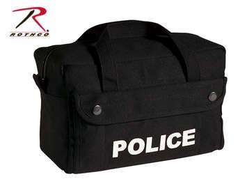 ROTHCO Outdoor Sports CANVAS SMALL BLACK POLICE LOGO GEAR BAG