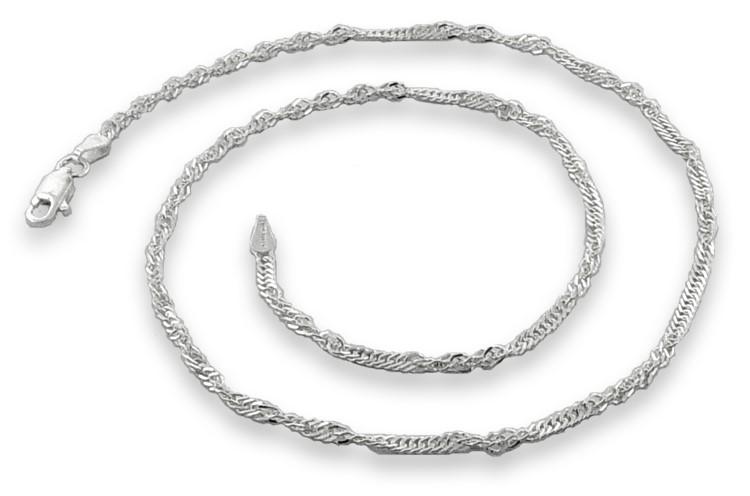 "18"" Silver Singapore Chain 925 Silver 1g"