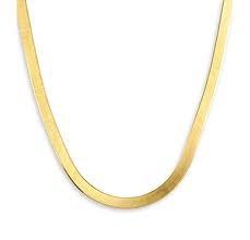 """16"""" Gold Herringbone Chain 14K Yellow Gold 4.8g"""