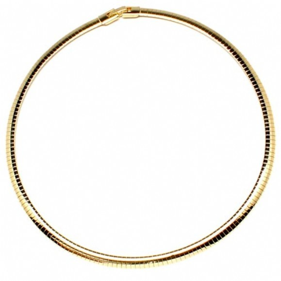 "19"" Gold Omega Chain 10K Yellow Gold 12.2g"