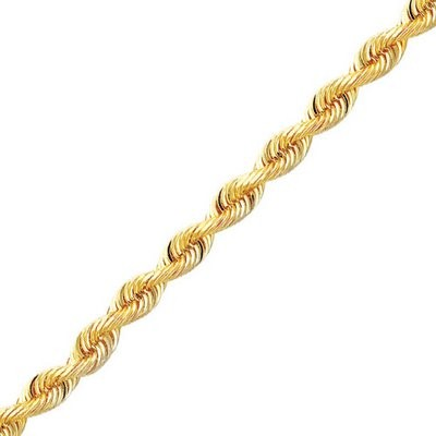 "22"" Gold Rope Chain 14K Yellow Gold 5dwt"