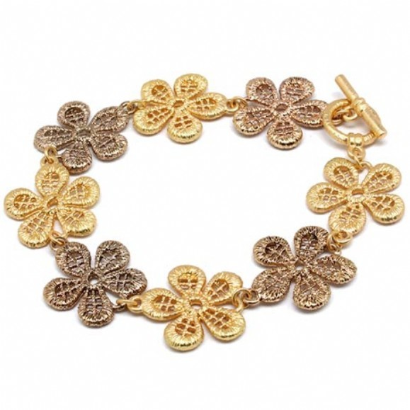 Gold Fashion Bracelet Yellow Gold Electroplate 1.5dwt
