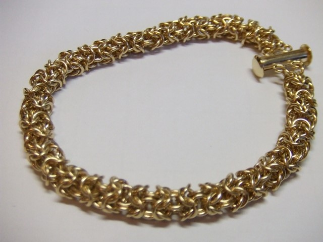 Gold Turkish Bracelet 10K Yellow Gold 4.6g
